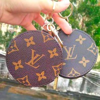 LV Tide brand classic old flower retro zip coin purse