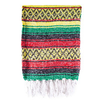 Rasta Mexican Striped Falsa Blanket on Sale for $14.95 at The Hippie Shop