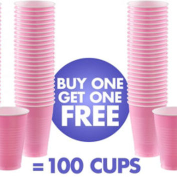 BOGO Pink Plastic Cups 50ct- Party City