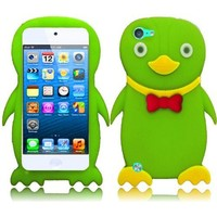 For Apple Ipod Touch 5 5th Generation Duck Silicone Jelly Skin Cover Case Neon Green