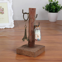Home Decor Vintage Weathered Mini Decoration Accessory Jewelry Rack [4918499012]