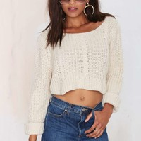 UNIF Sought Cable Knit Sweater