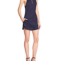 T by Alexander Wang - Stretch Silk Short Jumpsuit - Saks Fifth Avenue Mobile