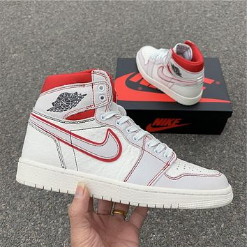 Air Jordan 1 Retro High OG SailRed 555088-160