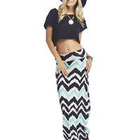 Chevron Maxi Skirt | Wet Seal