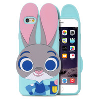 ZOOTOPIA Rabbit Back Case For Samsung Galaxy S5 S6 S7 Lovely Cute Phone Accessories For iPhone 7 / 7 Plus 6 6s/Plus 5 S 5SE Case