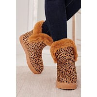Facts Of Life Fur Lined Booties (Cheetah)