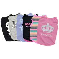 Pet Puppy Summer Vest Small Dog Cat Dogs Clothing Cotton T Shirt Apparel Clothes Dog Shirt H1