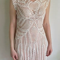 Handmade crochet wedding dress made to your size specifications