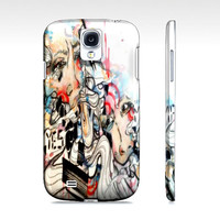 Cell Phone Case - Watercolor art  - Case for Galaxy s4 - Samsung Galaxy S4 case - doodle art -  Gift for him