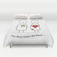 You Have Stolen My Heart Duvet Cover by Digi Treats 2 | Society6