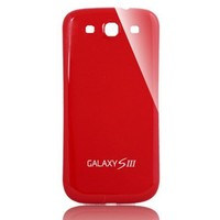 Brand New Hard Plastic Battery Back Rear Cover Door Replacement For Samsung Galaxy S3 i9300 - Red