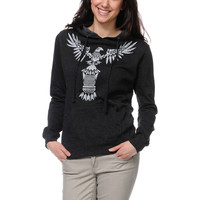 Empyre Girls Totem Heather Charcoal Pullover Hoodie at Zumiez : PDP
