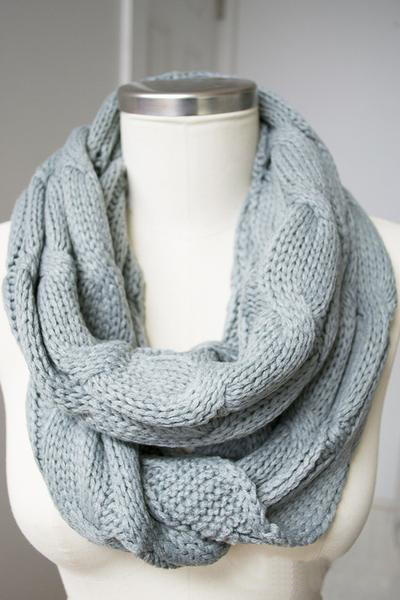 Image of Infinity Knitted Scarf by C.C.
