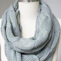 Infinity Knitted Scarf by C.C.