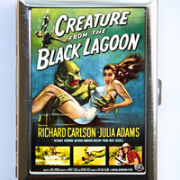Creature From the Black Lagoon Cigarette Case Wallet Business Card Holder horror movie poster cult classic b movie