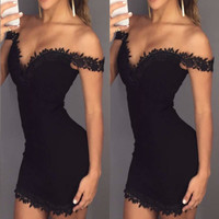 Floral Trimmed Little Black Dress