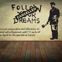 Banksy Wall Decal Wall Art Wall Sticker Vinyl Poster Graffiti Street Art