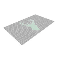 "Pellerina Design ""Winter Deer"" Gray Green Woven Area Rug"