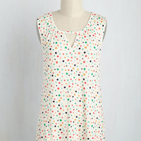 All for a Good Cosmopolitan Top in Dots | Mod Retro Vintage Short Sleeve Shirts | ModCloth.com