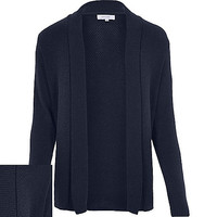 River Island MensBlue open front cardigan
