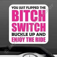 Bitch Switch Funny Vinyl Bumper Sticker Decal JDM Macbook Car Truck Fits Honda