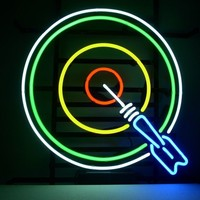 New Dart Darts Real Glass Neon Light Sign Home Beer Bar Pub Game Room Sign L05