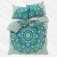 Queen Duvet Cover Set Indian Bohemian Bedding Set - Abhaya