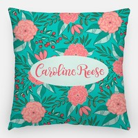 Pillow - Custom name - Tropical Turquoise