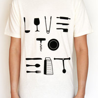 Live To Eat - Graphic Tee by IMPORKCHOPtee
