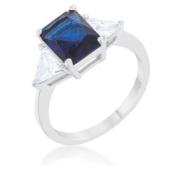 Gretchen 3ct Sapphire Radiant CZ Engagement Ring | 4.5ct