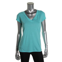 INC Womens Cap Sleeves V-Neck Pullover Top