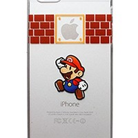 SAKO Super Mario Bros. Game Brothers Playing Apple Logo Hard PC Back Case Cover for Apple iPhone 5C (Mario 02 for 5C)