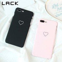 LACK Cute Loving Heart Lovers Phone Cases For iphone 8 Case Ultra Slim Hard PC Matte Back Cover Fashion Cases For iphone8 8 Plus