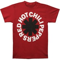 Red Hot Chili Peppers Men's  Black Asterisk T-shirt Red