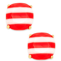 kate spade new york 14k Gold-Plated Nautical Striped Stud Earrings - Jewelry & Watches - Macy's