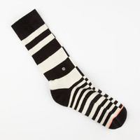 Stance Chaos Womens Crew Socks Black/White One Size For Women 25253012501