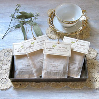 Tea Samples . 10 Individual Tea Bags . Loose Leaf Tea in a Filter Bag . Made to Order . Tea Lover's Gift . Wedding or Shower Favor