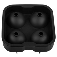 INSTEN Black Food-grade Silicone 4 Large Sphere Ice Tray Mold | Overstock.com Shopping - The Best Deals on Cooler & Ice Buckets