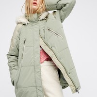 Free People Zip Puffer Coat