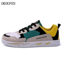 OKOUFEN New Arrival Men Skateboarding Shoes Male Lace-up Outdoor Sport Sneakers Classic Low Top Mixed Colors Men Walking Shoes