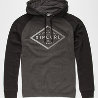 Rip Curl Leveled Out Mens Hoodie Black  In Sizes