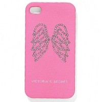 Victoria's Secret CELL PHONE CASE Angel Wings Pink Rhinestone 4 4S Iphone NEW on eBay!