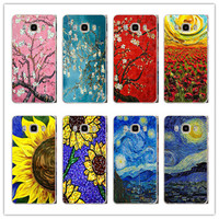 Vincent van Gogh sunflower cherry blossom starry sky series Hard plastic PC case cover For Samsung Galaxy A3 A5 A7 J1 J5 J7 2016