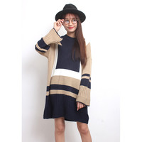 Colorblocking Oversized Knit Dress