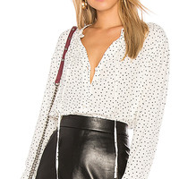 Rails Casey Blouse in Black Mini Hearts | REVOLVE