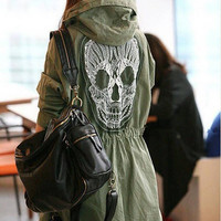 Hooded Skull Army Jacket (3 colors)