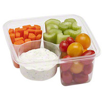 6 Sq. x 6 5/8H 3 Cells Greenware On The Go Food Boxes/Case of 300