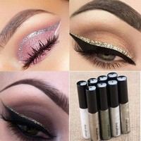 2017 Liquid Glitter Eyeliner Eyeshadow Shiny Waterproof Long Lasting Eye Makeup Fashion Cosmetic