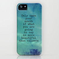 The Beauty of Silence - Blue iPhone & iPod Case by Olivia Joy StClaire